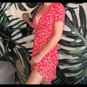 Lulu's Red Floral Dress